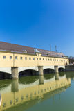 Historic weir at the river Isar  in Munich Royalty Free Stock Images