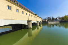 Historic weir at the river Isar  in Munich Stock Photography