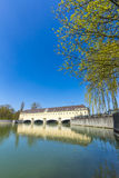Historic weir at the river Isar  in Munich Royalty Free Stock Photo