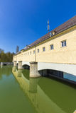 Historic weir at the river Isar  in Munich Stock Images