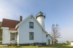 West Chop Lighthouse at the island of Marthas Vineyard stock photos