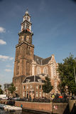 Historic West Church is a 17th century church in Amsterdam, Holland Stock Images