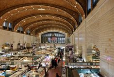 Historic West Side market in Cleveland, Ohio Stock Photography