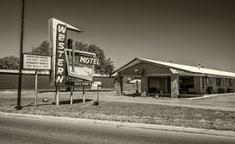 Historic Western Motel on Route 66 in Sayre, Oklahoma Royalty Free Stock Photo