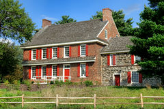 Historic Whitall House at Red Bank Battlefield Stock Photos