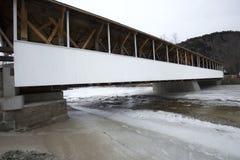 Historic white covered bridge, Ammonoosuc River, Stark, New Hamp Royalty Free Stock Photo