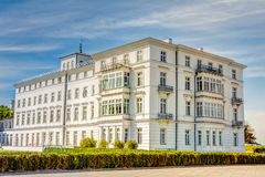 Historic white house at Baltic Sea coast. In Heiligendamm, Germany Stock Image