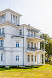 Historic white house at Baltic Sea coast. In spa town Heiligendamm, Germany Royalty Free Stock Photo