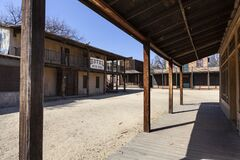 Free Historic Wild West Town Movie Sets Stock Photos - 175572953