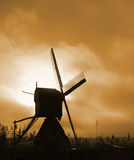 Historic windmill. In the dutch countryside at sunset Stock Photo