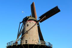 Historic windmill. In the functional operation Stock Photography