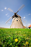 Historic windmill in the Czech countryside, Kuzelov, Bile Karpaty (The White Carpathians). Royalty Free Stock Images