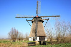 Historic Windmill De oude Doorn in the Province North Brabant, The Netherlands Royalty Free Stock Photo