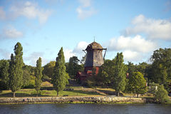 Historic windmill, Djurgarden, Stockholm Stock Photo
