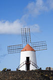 Historic windmill, Jardin de Cactus, lanzarote Royalty Free Stock Photo
