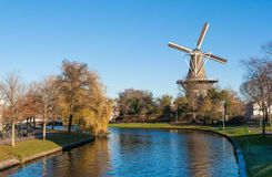 Historic windmill in Leiden, the Netherlands Royalty Free Stock Images