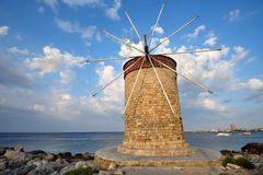 Historic windmill by the sea Stock Photos