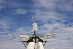 Historic Windmill. In the village of Retz in east Austria Royalty Free Stock Image
