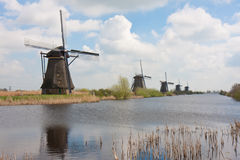 Historic windmills in the Netherlands Royalty Free Stock Photos