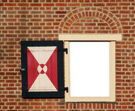 Historic window in brick wall Royalty Free Stock Photos