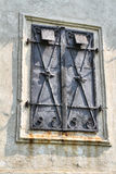 Historic window at the castle. Historic iron window at the castle Royalty Free Stock Image