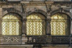 Historic windows in Dresden Stock Photos