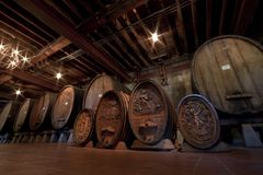 Historic Wine Barrels Royalty Free Stock Image