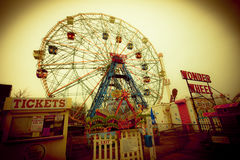 Historic Wonder Wheel Stock Image