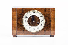 Historic wood clock Royalty Free Stock Photography