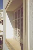 Historic wood shutter Stock Photography