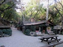 Historic Stagecoach Tavern near Goleta, Santa Barbara County, California. Historic wooden blockhouse, stagecoach tavern in Santa Barbara County, California, USA Stock Image