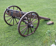 Historic wooden cannon Stock Image