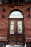 Old wooden door. Historic wooden door in the old building. Russia Stock Images