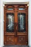 Old wooden door. Historic wooden door in the old building. Russia Royalty Free Stock Images