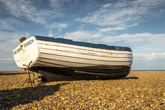 Historic wooden fishing boat. stock photography