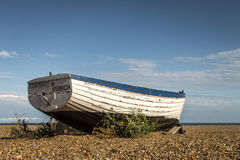 Historic wooden fishing boat. royalty free stock photo