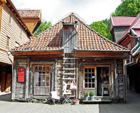 Historic wooden houses in Bergen (Norway) Royalty Free Stock Photography