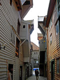 Historic wooden houses in Bergen (Norway) Royalty Free Stock Photo