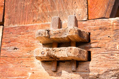 Historic wooden joint Royalty Free Stock Photo