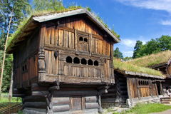 Historic wooden norwegian house in open air museum, Oslo Royalty Free Stock Photos