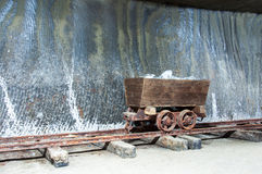 Historic wooden salt extraction machine Stock Image