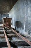 Historic wooden salt extraction machine Stock Photo