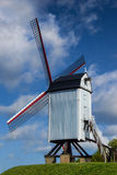 Historic Wooden Windmill in Bruges Brugge Belgium Stock Images