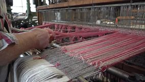 Historic woolen mill production in Wales - United Kingdom. Historic woolen mill production in Trefriw, Wales - United Kingdom stock video