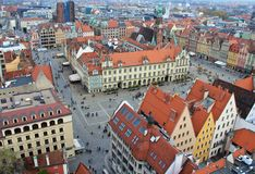 Historic Wroclaw, Poland - city panorama Stock Photo