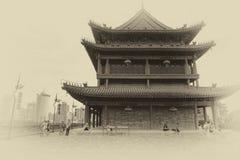 Historic Xian city wall Stock Photos