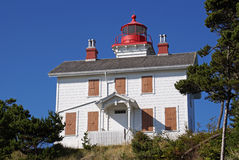 The historic Yaquina Bay Light House. Stock Photos