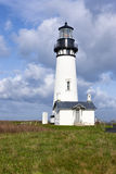 Historic Yaquina lighthouse. Royalty Free Stock Images