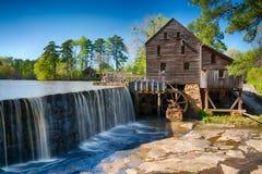 Historic Yates Water Mill. In Raleigh, North Carolina royalty free stock image