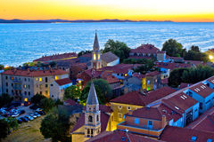 Historic Zadar skyline evening view Stock Photo